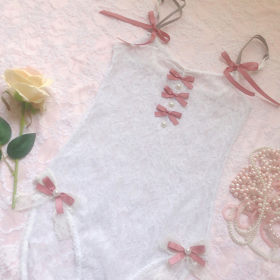 [Limited Edition] Snow Rose Handmade Bodysuit - Peiliee Shop