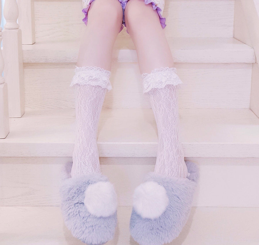 Lolita Fairy Lace below knee socks - Peiliee Shop