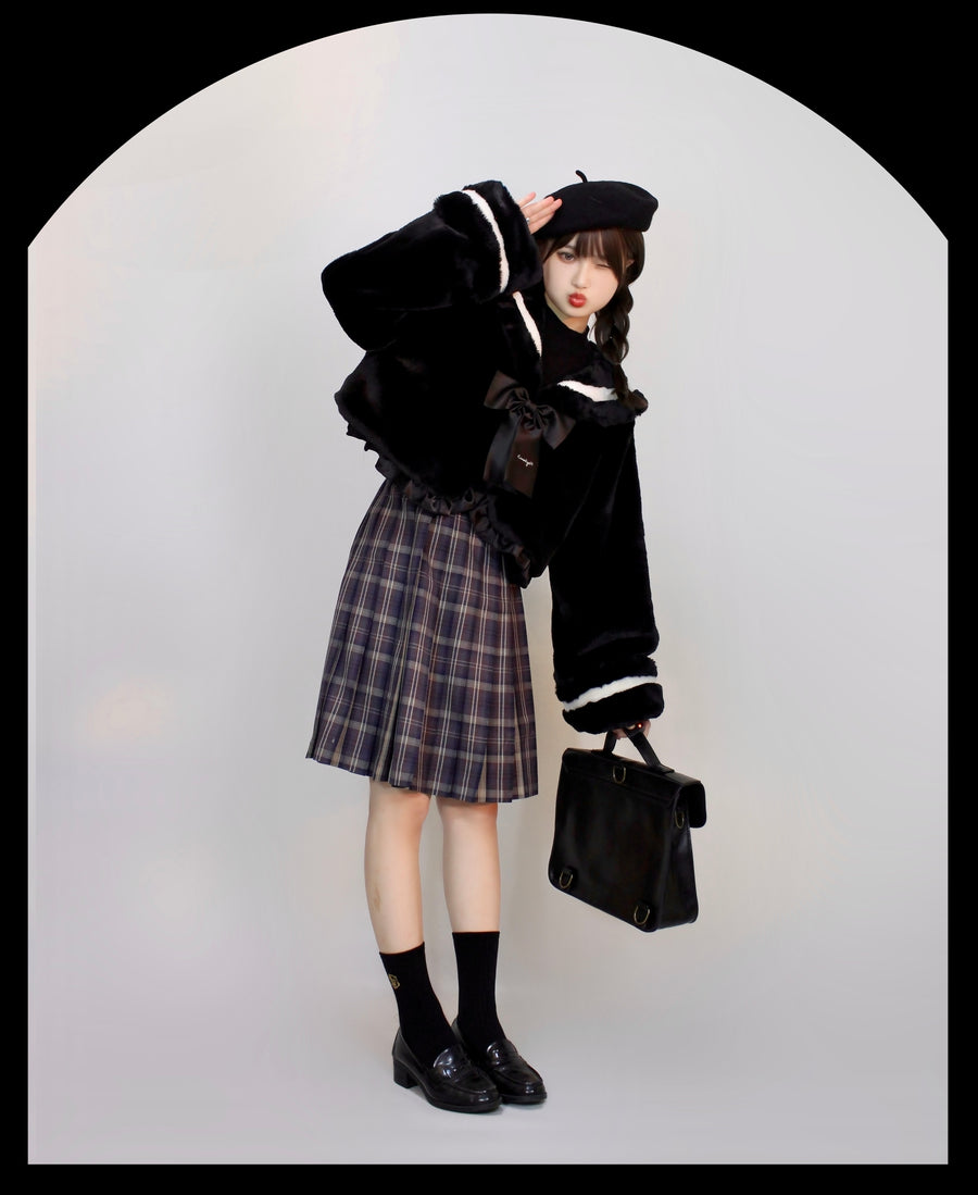 [Canmi Design] Mochi Mochi Soft Faux Fur Coat - Peiliee Shop