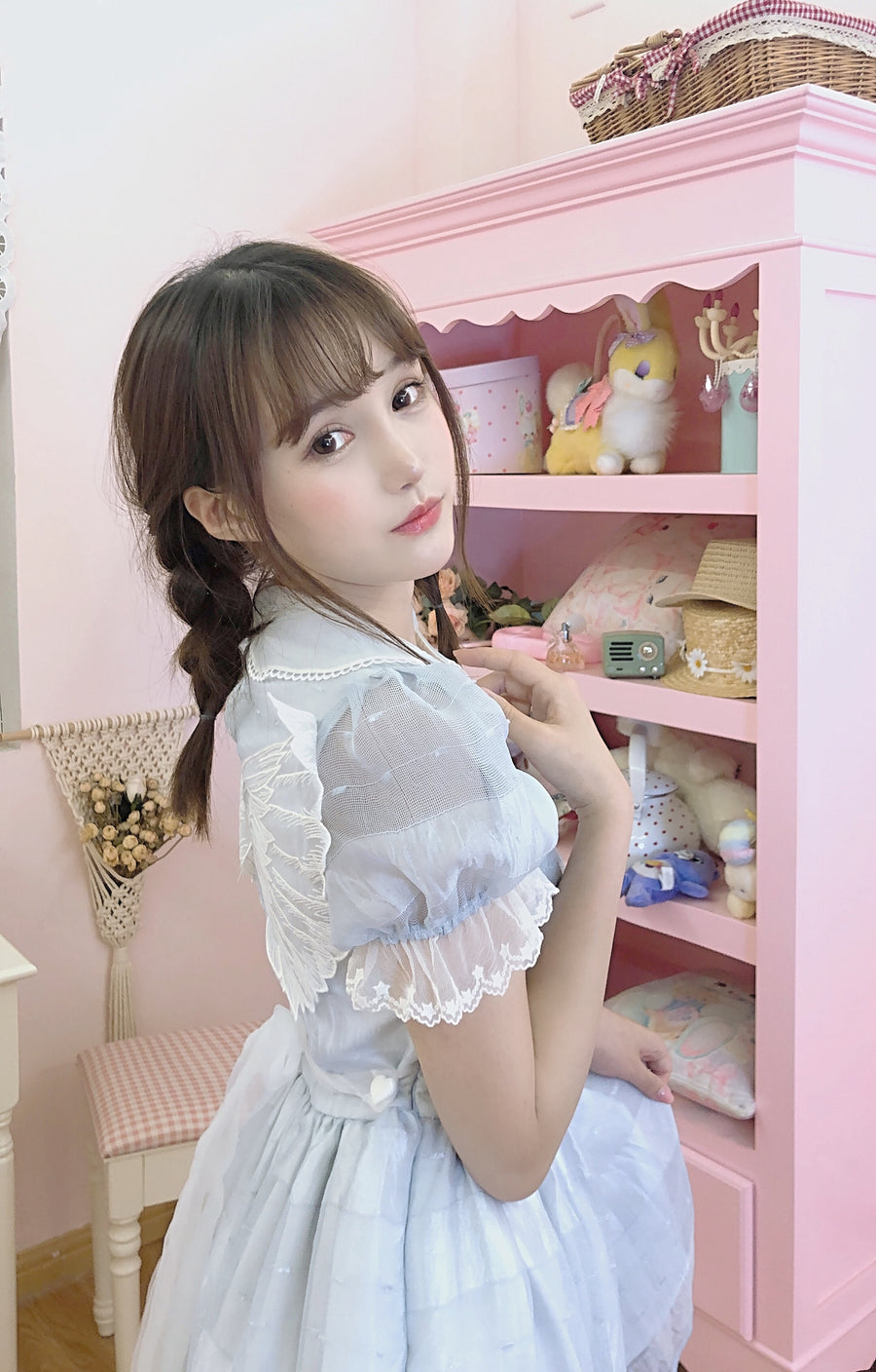 [12 Studio] You Are My Cupid 3D Wing Babydoll Dress - Peiliee Shop