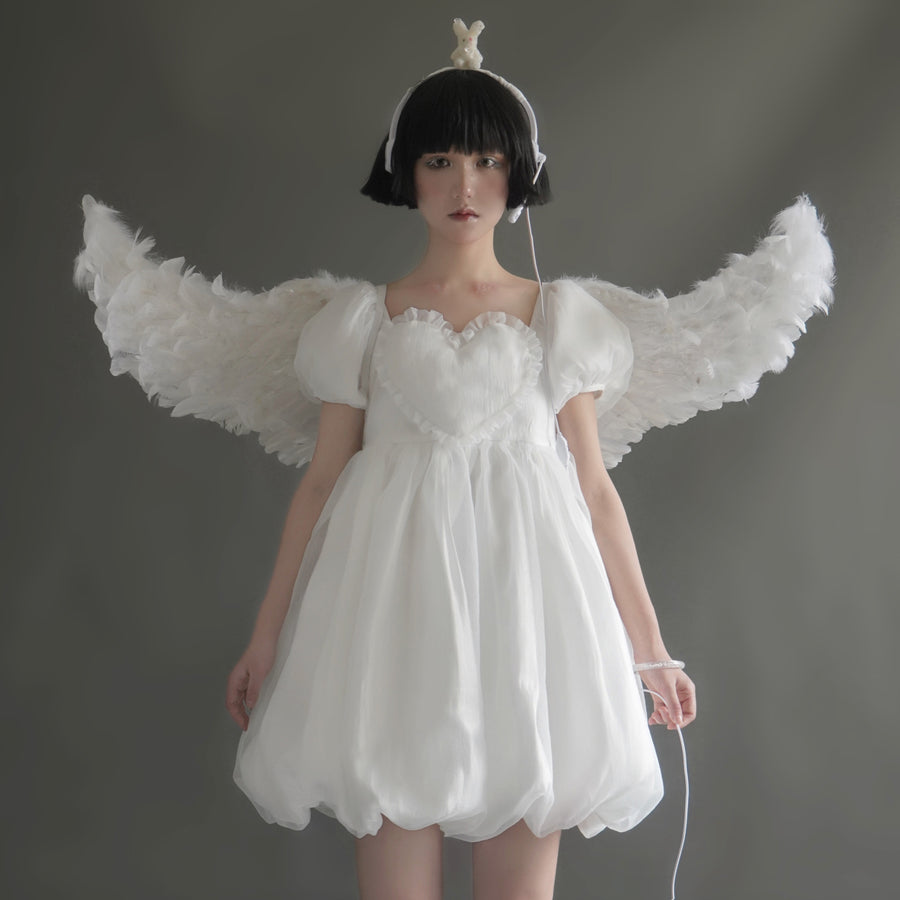 [Exclusive to PeilieeShop] NOLOLITA Cicada pupa in the air dress - Peiliee Shop