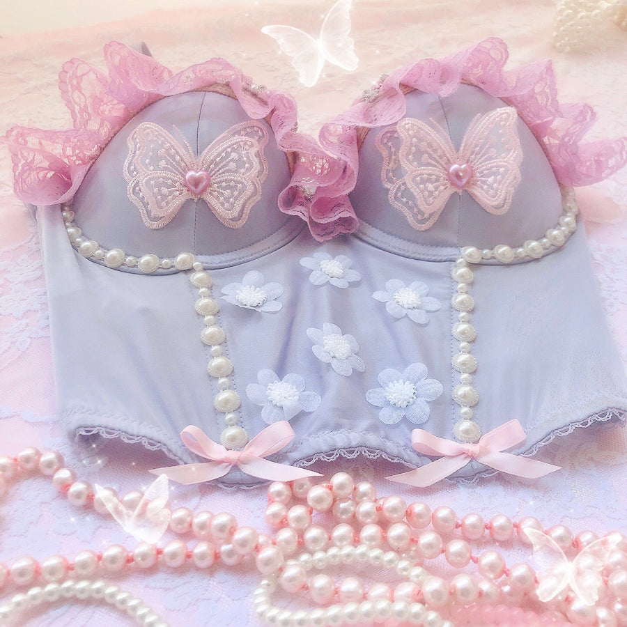 [Premium Selected] Handmade Butterfly in Garden Corset - Peiliee Shop