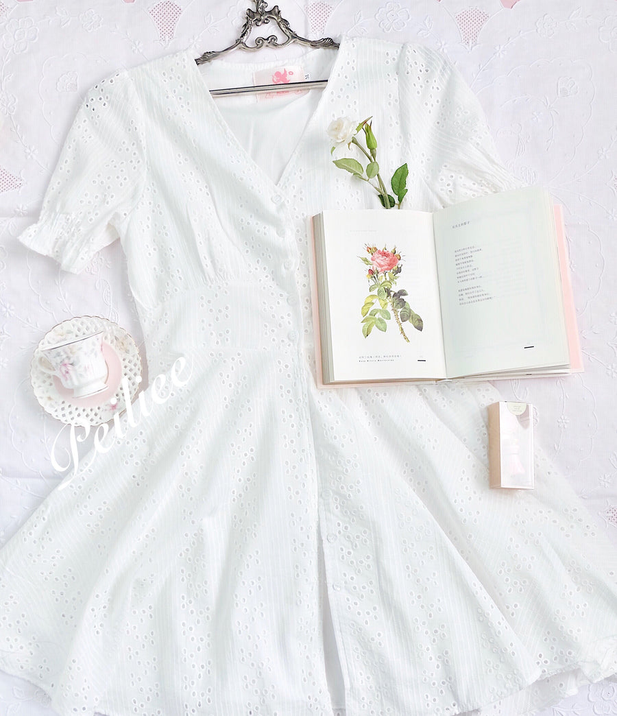 Angel Waltz Simple Cut Summer Dress - Peiliee Shop