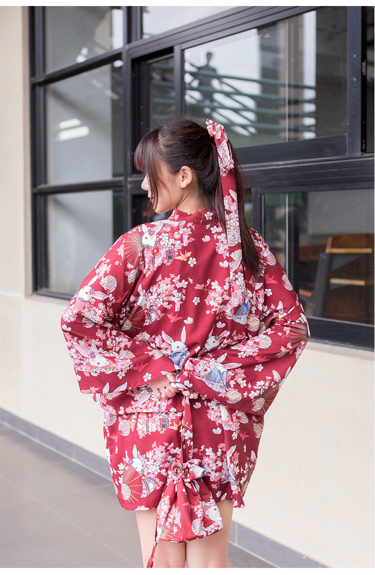 [Back to stock] Bunny Wishes For Good Fortune Short Yukata - Peiliee Shop