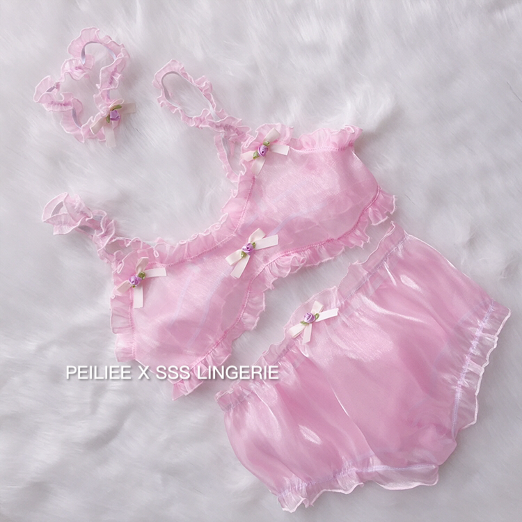 [Peiliee X SSS Lingerie] Besties Bubble Doll Flower Set - Peiliee Shop