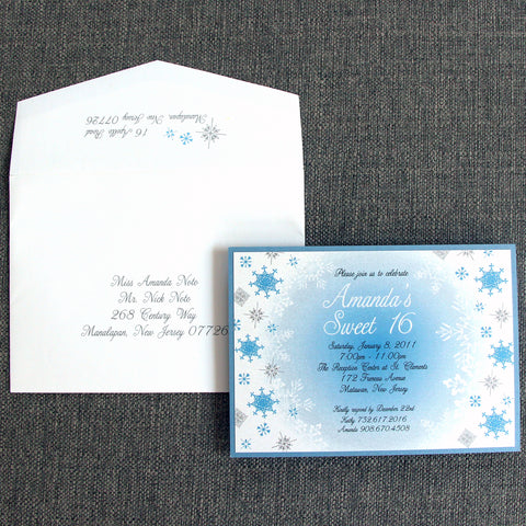 Winter Snowflake Invitation