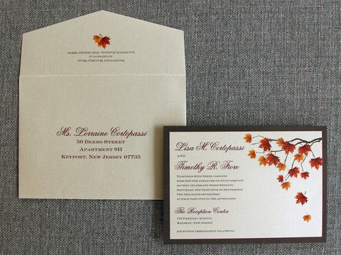 Falling Leaves Wedding