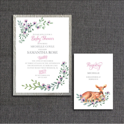 Enchanted baby shower invitation shellys touch enchanted baby filmwisefo