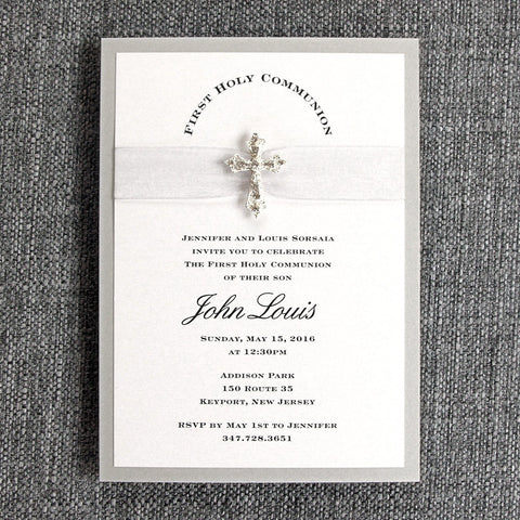 Religious Sparkle Invitation