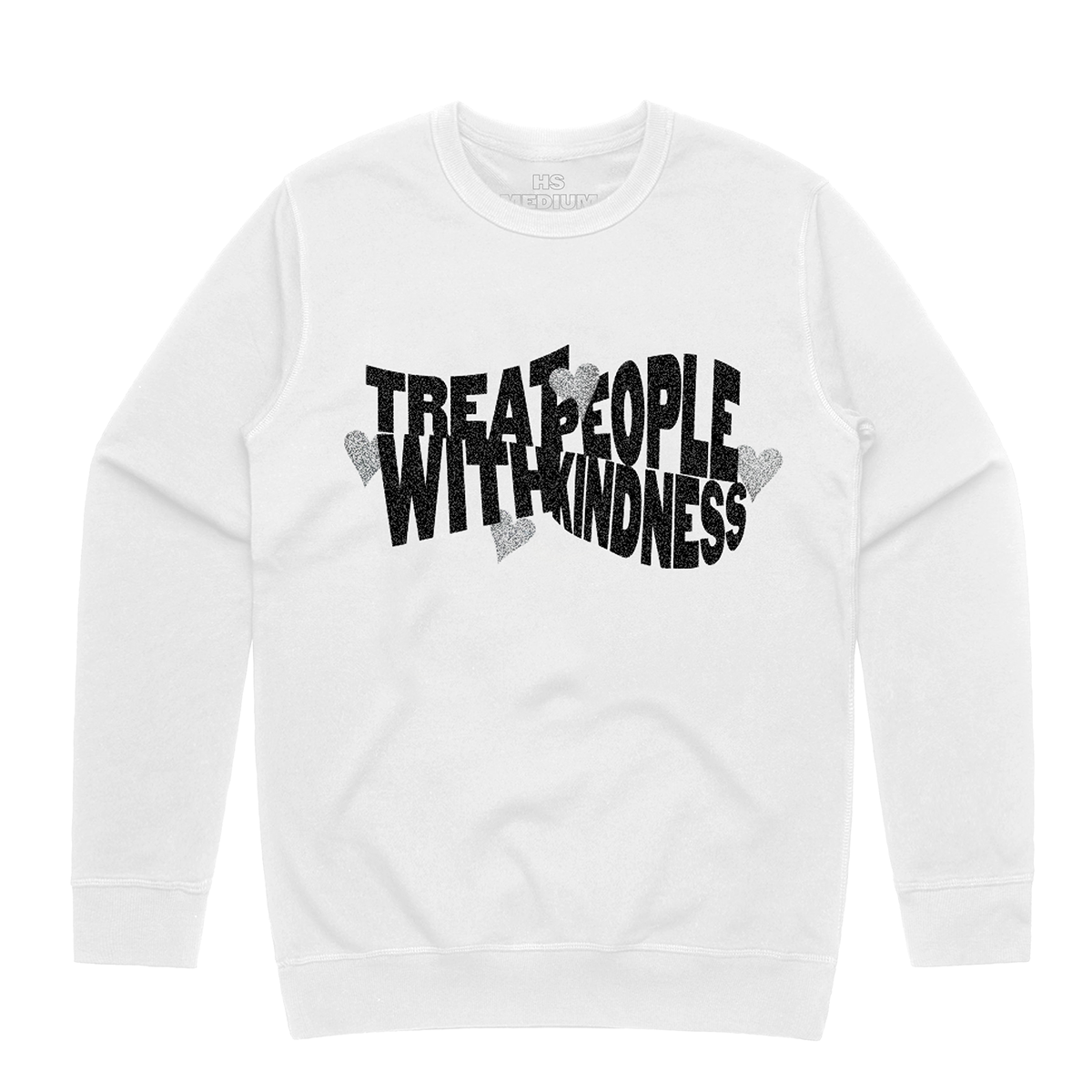 Treat People With Kindness Glitter Crewneck Sweatshirt