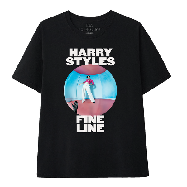 Fine Line Black Tee + Album - Harry Styles UK