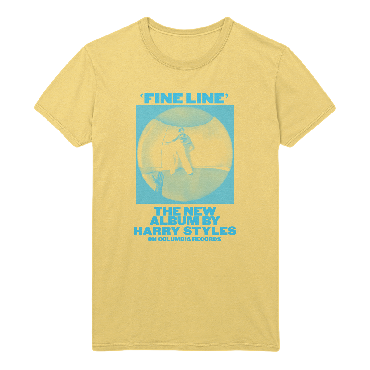 Yellow Vintage Fine Line Tee - Harry Styles UK
