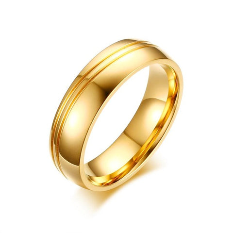 Vnox AAA CZ Stones Gold-color Wedding Rings for Women Men Stainless Steel Alliance Couple Anniversary Ring Band Bijoux