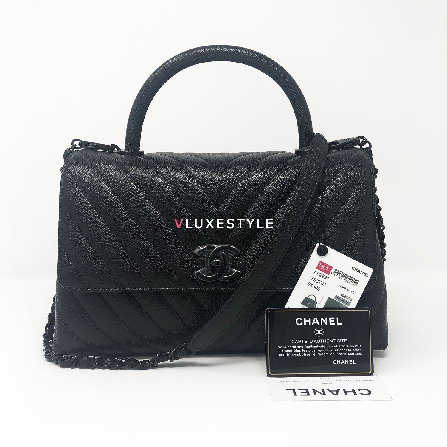 7f759284d8b4 Limited Edition 18A Coco Handle So Black in Small – VLuxeStyle