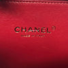 Chanel 18P Small Filigree Vanity Case Red Quilted caviar with aged gold hardware