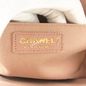 Chanel Le Boy 18P Old Medium Light Pink Quilted Caviar with brushed gold hardware