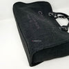Chanel 19A Deauville with handle Black Lurex Boucle with silver hardware
