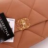 Chanel Medium/Large 19 Flap 21P Dark Brown/Caramel Lambskin with mixed hardware