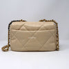 Chanel 19K Small 19 Flap Light Beige Goatskin with mixed hardware