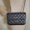 Chanel 19K Reissue Mini Metallic Black Quilted Goatskin with ruthenium hardware
