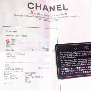 Partial payment: Chanel Small Le Boy Black Chevron Caviar with shiny light gold hardware