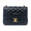 19S Classic Black Mini Quilted Lambskin with brushed gold hardware