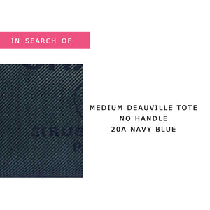 IN SEARCH OF Chanel Deauville Tote Medium 20A Navy Blue with light gold hardware
