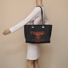 Chanel Deauville Denim with Orange Chanel Logo and silver hardware