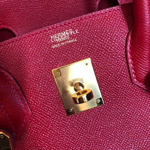 Hermes Birkin 30 Rouge Casaque Epsom with gold hardware