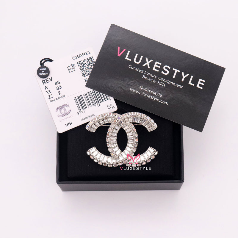 Chanel CC Brooch with Crystal