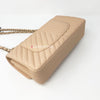 Chanel 19S Classic Medium Beige Caviar with light gold hardware