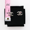 Chanel CC Ruthenium Princess Gray/Grey Crystal Piercing Earrings and Necklace