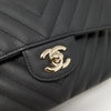 Remaining Balance: Chanel Classic 19S Small Double Flap Black Chevron Caviar with light gold hardware
