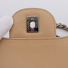 Chanel Classic Jumbo Double Flap Beige Quilted Caviar with silver hardware