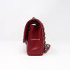 Remaining balance: Chanel Classic 17B Medium Red Quilted Caviar with silver hardware