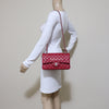 Chanel Classic Medium 18B Raspberry Red Quilted Caviar with silver hardware