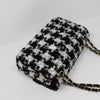 Chanel Classic Double Flap Medium 20S Houndstooth Tweed with light gold hardware