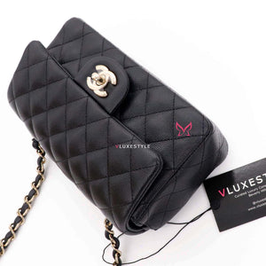Copy of 20% Non- refundablPartial payment: Classic Mini rectangular 17B Black Quilted Caviar with light gold hardware