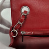 Chanel Mini Rectangular 17B Red Quilted Caviar with silver hardware.