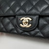 Chanel Classic Mini Rectangular 17C Black Quilted Caviar with light gold hardware