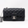 Chanel Classic Mini Rectangular Black Quilted Caviar with silver hardware