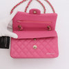 Chanel Classic Small Double Flap 20S Pink Quilted Caviar with light gold hardware