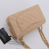20% Non-refundable deposit to reserve: Chanel Classic Small Double Flap Beige Quilted Caviar with gold hardware