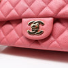 Chanel Classic 18S Mini Rectangular Pink Quilted Caviar with light gold hardware