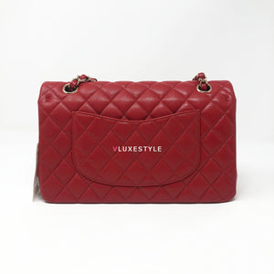 Non-refundable downpayment: Boutique fresh Chanel 19B red medium caviar with light gold hardware