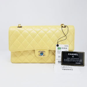 Payment plan order #1095 19S Classic Medium Yellow Iridescent Caviar with light gold hardware