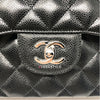 Chanel Classic Black Jumbo Double Flap Caviar with silver hardware