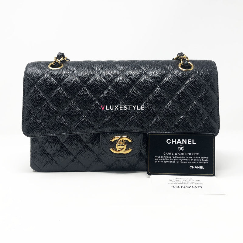 Payment Plan: Chanel Classic Black Medium Double Flap Caviar with gold hardware