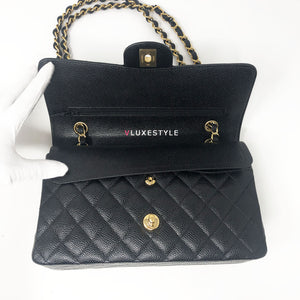 Payment Plan 1089: Chanel Classic Black Medium Double Flap Caviar with gold hardware