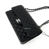 RESERVED: Chanel Classic Medium Double Flap Black Quilted Caviar with silver hardware